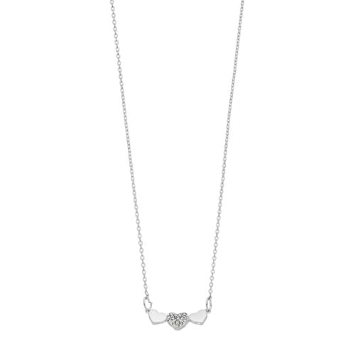 Lc Lauren Conrad Simulated Crystal Heart Trio Necklace by Kohl's