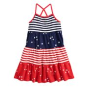 Girls 4-10 Jumping Beans® Tiered Patriotic Tank Dress