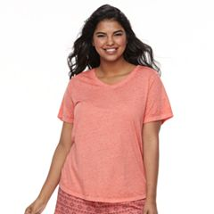 Plus Size SO® Burnout Tee