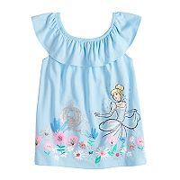 Disney's Cinderella Girls 4-10 Ruffle Shoulder Top by Jumping Beans®