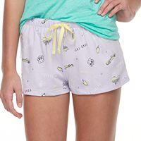 Juniors' SO® Printed Pajama Shorts