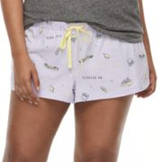 Plus Size SO® Printed Pajama Shorts