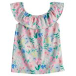Girls 4-10 Jumping Beans® Ruffle Shoulder Top