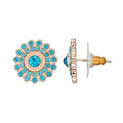 LC Lauren Conrad Teal Nickel Free Stud Earrings
