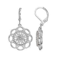 LC Lauren Conrad Filigree Flower Nickel Free Drop  Earrings