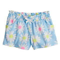 Girls 4-10 Jumping Beans® Printed Paper Bag Waist Shorts