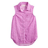 Girls 7-16 SO® Button-Down Shirt