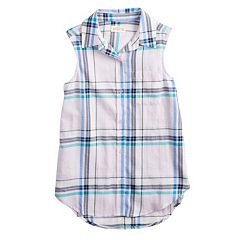 Girls 7-16 SO® Button-Down Shirt