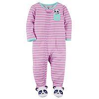 Toddler Girl Carter's Striped Footed Pajamas