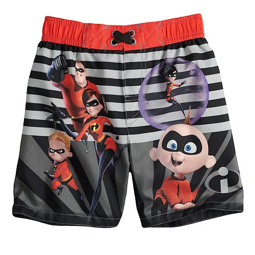 Disney / Pixar The Incredibles Toddler Boy Striped Swim Trunks