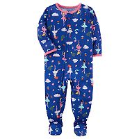 Toddler Girl Carter's Print Footed Pajamas