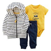 Baby Boy Carter's Striped Zip-Up Hoodie,