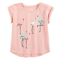 Toddler Girl Flamingo Dolman Tee by Jumping Beans