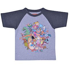 Toddler Boy Rugrats Character Raglan Graphic Tee