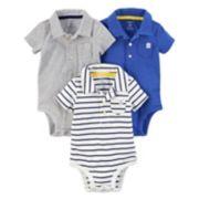 Baby Boy Carter's 3-Pack Polo Shirt Bodysuits