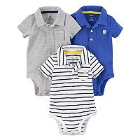 Baby Boy Carter's 3-Pack Polo Shirt Bodysuits