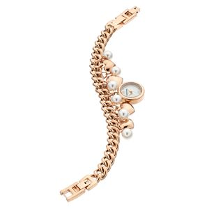 Armitron Women's Crystal & Heart Charm Watch - 75/5578MPRG