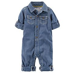 Baby Boy Carter's 'Little Captain' Chambray Jumpsuit