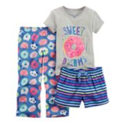 Toddler Girl Carter's 3-pc. Printed Pajama Set