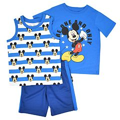 Disney's Mickey Mouse Toddler Boy 'The One And Only'  Tee, Tank Top & Shorts Set