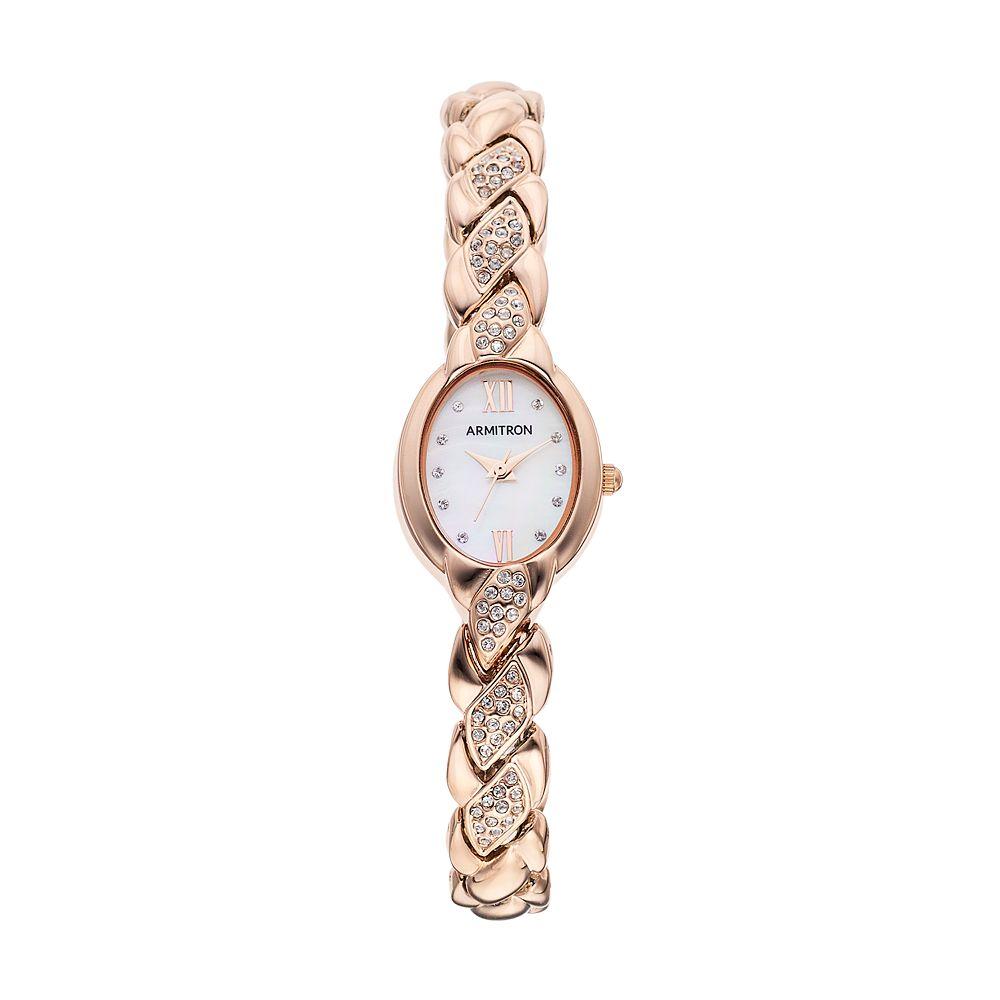 Armitron Women's Crystal Watch - 75/5576MPRG