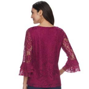 Women's ELLE™ Lace Bell-Sleeve Top