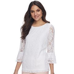 Women's ELLE™ Lace Bell-Sleeve Top