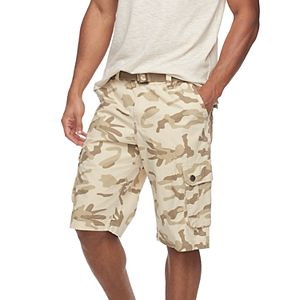 5aadeda7b6 Men's RawX Regular-Fit Belted Cargo Shorts