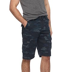 Men's RawX Regular-Fit Belted Cargo Shorts