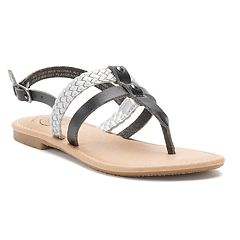 SO® Raw Edge Braid Girls' Sandals
