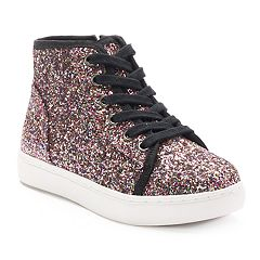 SO® Girls' Glitter High-Top Sneakers