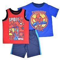 Toddler Boy Marvel Spider-Man Tee, Tank & Shorts Set