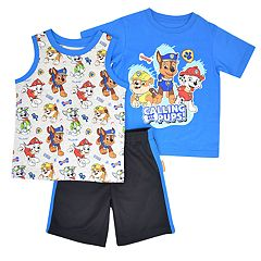 Toddler Boy Paw Patrol 'Calling All Pups' Tee, Graphic Tank Top & Shorts Set