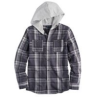 Boys 8-16 French Toast Flannel Hooded Shirt