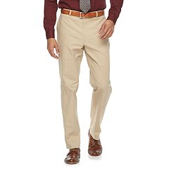 Men's Apt. 9® Slim-Fit Tan Stretch Flat-Front Suit Pants