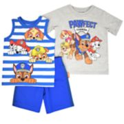 "Toddler Boy Paw Patrol ""Pawfect Teamwork"" Tee, Striped Tank Top & Shorts Set"