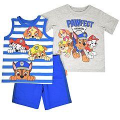Toddler Boy Paw Patrol 'Pawfect Teamwork' Tee, Striped Tank Top & Shorts Set