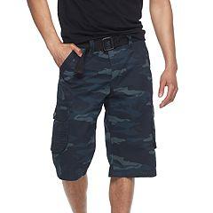 Men's RawX Regular-Fit Belted Cargo Shorts