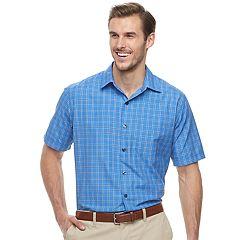 Big & Tall Van Heusen Air Classic-Fit Windowpane Button-Down Shirt