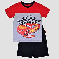 Disney / Pixar Cars Toddler Boy Lightning McQueen Tee & Shorts Set