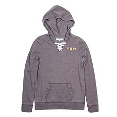 Girls 7-16 Harper & Elliott Lace-Up Neck Hoodie