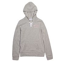 Girls 7-16 Harper & Elliot Lace-Up Neck Hoodie