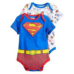 Baby Boy Marvel Super-Man 2-Pack Bodysuit Set