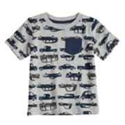 Baby Boy Jumping Beans® All Over Vehicles Pocket Tee