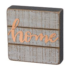 Rustic Farmhouse 'Home' Box Sign Wall Art