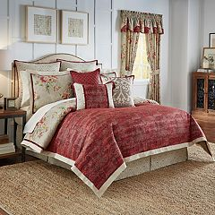 Waverly Fresco Flourish 4-piece Reversible Bed Set