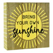"Belle Maison ""Sunshine"" Box Sign Art"