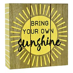 Belle Maison 'Sunshine' Box Sign Art