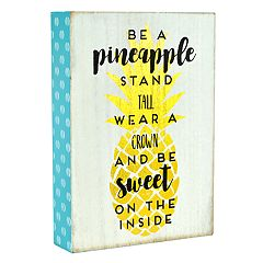 Belle Maison 'Be A Pineapple' Box Sign Art