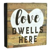 "Belle Maison ""Love Dwells Here"" Box Sign Art"